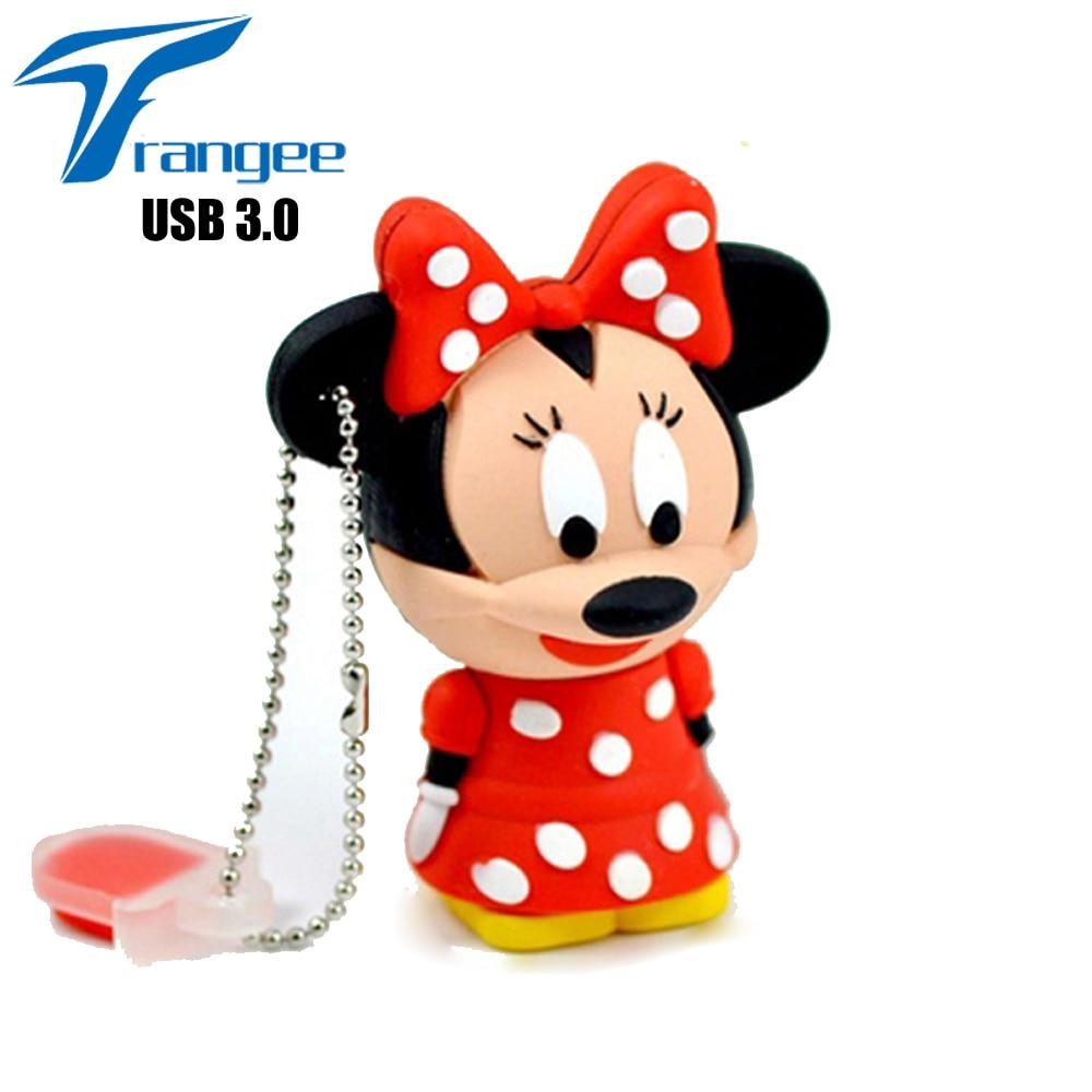 Trangee USB 3,0 64 GB 32 GB USB Flash Drive 16 GB disco Flash USB de dibujos animados de pulgar regalos