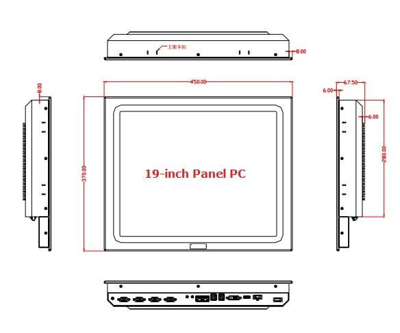 19 inch Sunlight readable panel PC, Core i3-4005U CPU, 4GB RAM,64GB SSD, rugged fanless design, OEM/ODM