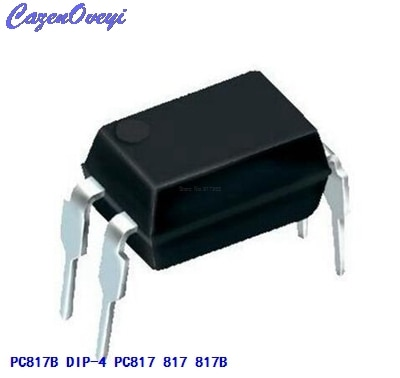 50 unids/lote PC817B PC817C DIP-4 PC817 817 817B EL817 FOD817C LTV817A LTV-817-A montaje de alta densidad tipo Photocoupler