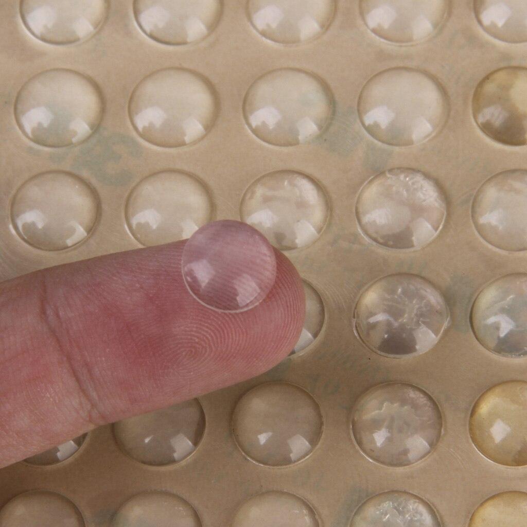 100 stücke Klebstoff Silikon Halbkreis Fuß Klare anti slip silica gel gummipuffer dämpfer stoßdämpfer selbst-adhesive füße pads