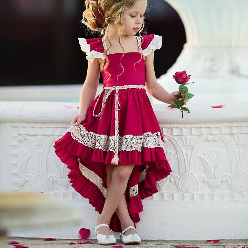 Vestidos de bebé niña vestidos de verano nuevo europeo y americano corte retro ropa de bebé niñas princesa vestido fiesta vestido de ropa de niñas