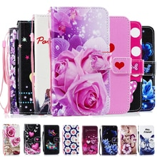 Für Apple iphone XS X MAX XR 5 5s SE 6 6S 7 Plus 8 Plus telefon fall muster Leder Buch Flip Design Brieftasche Fall Weiche Abdeckung funda