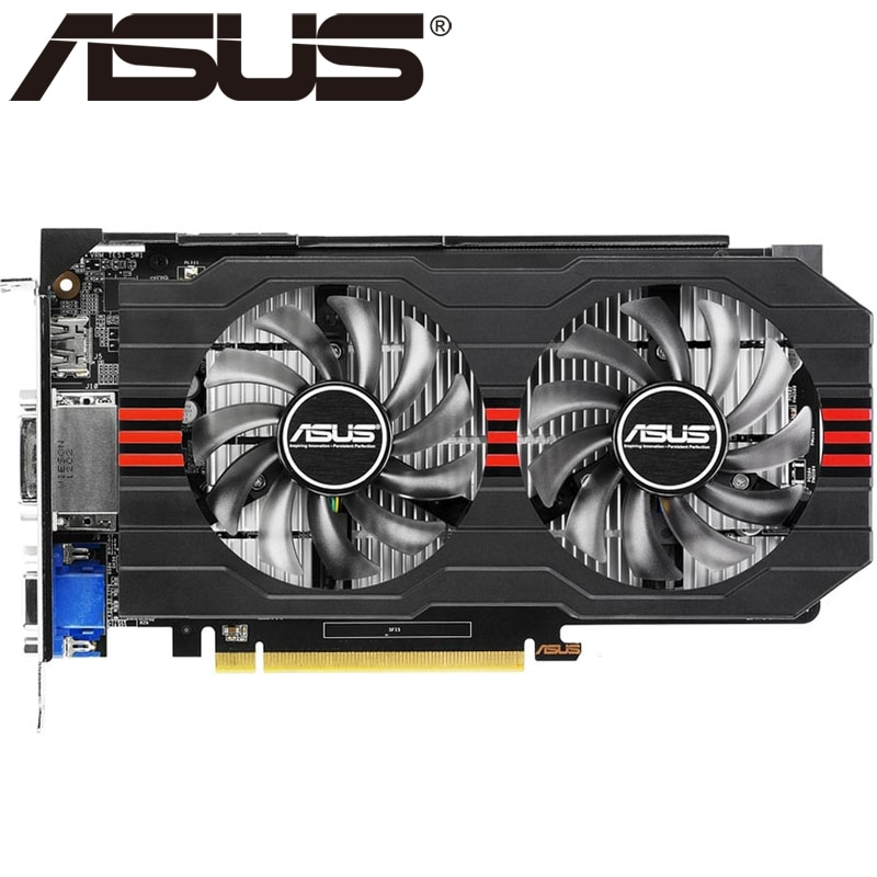 ASUS-carte graphique GTX 650 Ti 1 go GDDR5, 128 bits, pour nVIDIA Geforce GTX 650Ti, carte VGA plus robuste que GTX 750