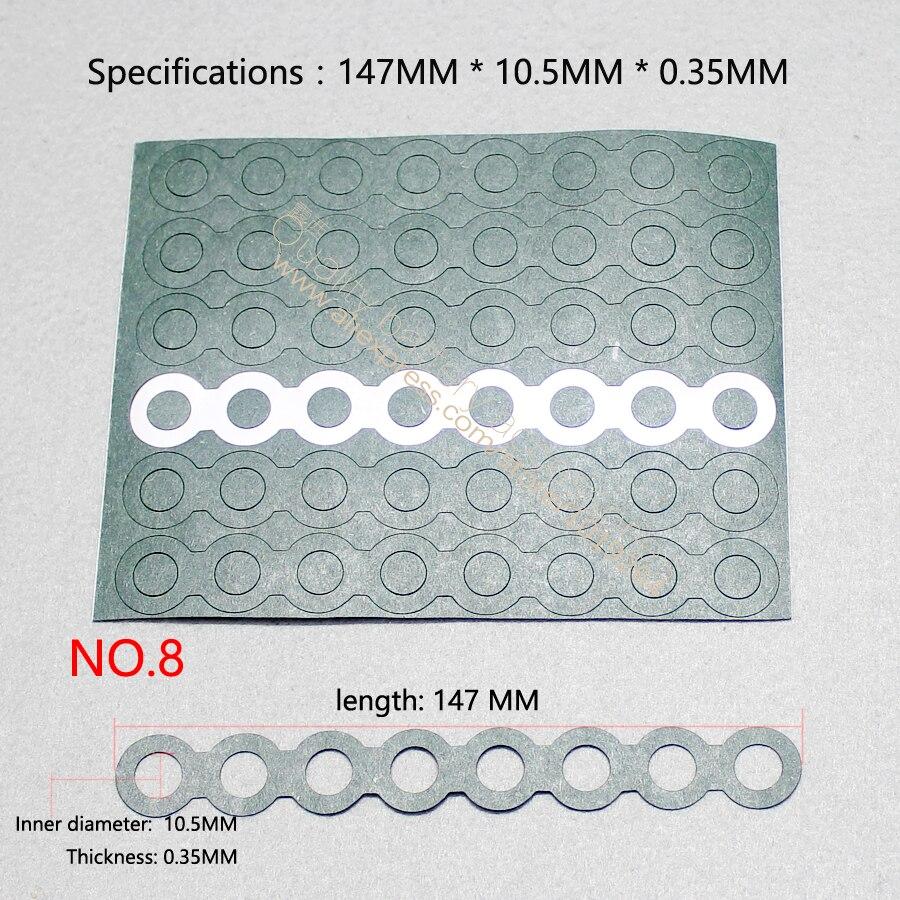 Купить с кэшбэком 3 and 18650 lithium battery pack Insulation gasket meson 6 and series hollow flat head positive pole pad Insulation gasket