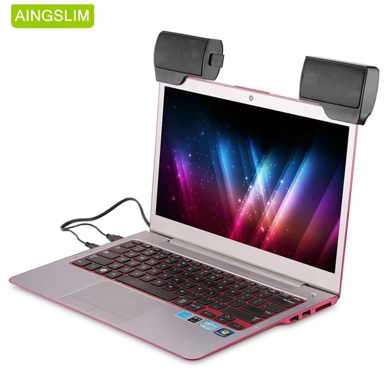 AINGSLIM Mini haut-parleur stéréo Portable USB filaire 3.5mm Jack haut-parleurs pour ordinateur Portable ordinateur de bureau tablette lecteur de musique avec pince