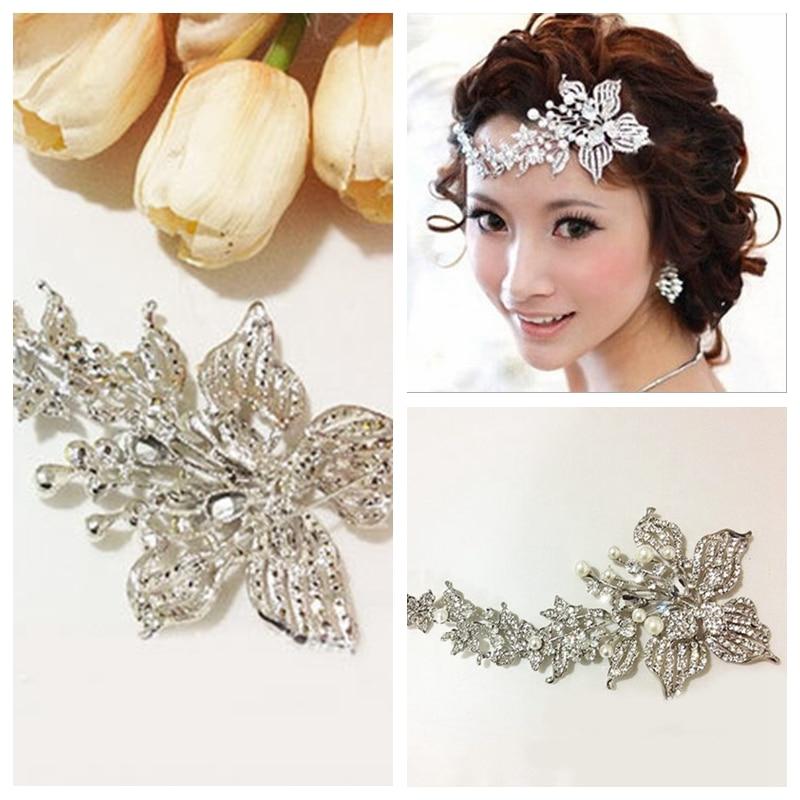 Цветочный стиль Хрустальный лоб аксессуары свадебное украшение для головы недорого продажа роскошный головные украшения