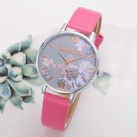 Women's Watch Silicone Printed Flower Causal Quartz Analog Wrist Watches Hot sale Relogio Feminino Casual Bayan Kol Saati Q