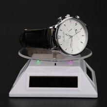 ABS acrylique support de montre porte-bijoux 100*100*40mm 360 platine solaire automatique rotatif support anneau Bracelet montre vitrine