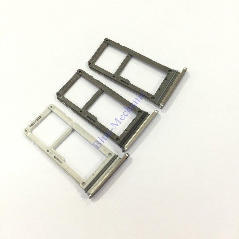 Original Dual tarjeta SIM Sim bandeja para Samsung Galaxy S7 G9300 G930V G930A SM-G930F G930F Nano SIM 1/2 tarjeta Micro SD