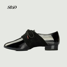 BD DANCE SHOES Latin Shoes Ballroom MEN Shoe Modern Soft Cowhide Sole BDDANCE 322 Two Point Sole Imp