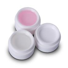 1 pièce UV Gel blanc Transparent UV constructeur Extension manucure UV ongle Gel vernis acrylique ongles conseils Bio Gel