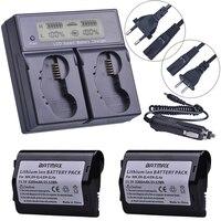 2PCS 3200mAh EN-EL4 EN-EL4a Camera Battery+Rapid LCD Dual Charger for Nikon D2H D2Hs D2X D2Xs D3 D3S F6 MH-21 Cameras