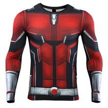 Ant homme 3D imprimé t-shirts hommes Avengers 4 Endgame chemise de Compression Cosplay Costume Tigths à manches longues hauts pour homme