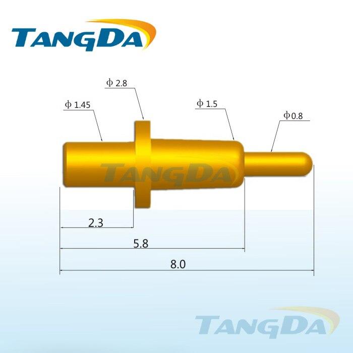 Tangda-موصل دبوس pogo ، 8.0 ACharging ، DHL/EMS ، D2.8 * 1.5 مللي متر ، بطارية الهاتف الخلوي ، مسبار الربيع ، إبرة موصلة ، كشتبان