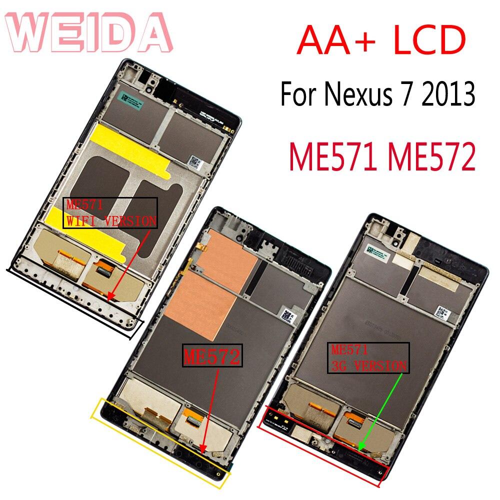 WEIDA para Asus Google Nexus 7 2nd Gen Nexus7 2013 ME571 LCD...