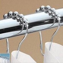 Crochet de Type gourde en métal   12 pièces, fenêtre accessoires de salle de bain, crochet de Type cinq perles boucle métallique rouille de Type palan, crochet pour rideau de douche
