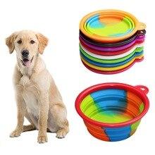 الكلب السلطانية للأغذية السفر للطي وعاء سيليكوني لطعام الكلاب المغذية المياه الغذاء الحاويات الكلب زينة الحيوانات الأليفة للطي الكلب السلطانية الزي