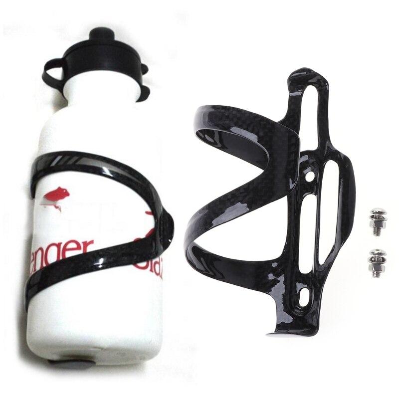 1 conjunto de fibra de carbono bicicleta garrafa de água titular ajustável kit gaiola aberta lateral venda quente
