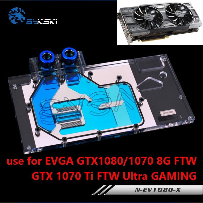 Bykski استخدام كتلة المياه ل EVGA GTX1080/1070 FTW/GTX1070 Ti FTW الترا الألعاب/غطاء كامل بطاقة جرافيكس النحاس المبرد كتلة RGB