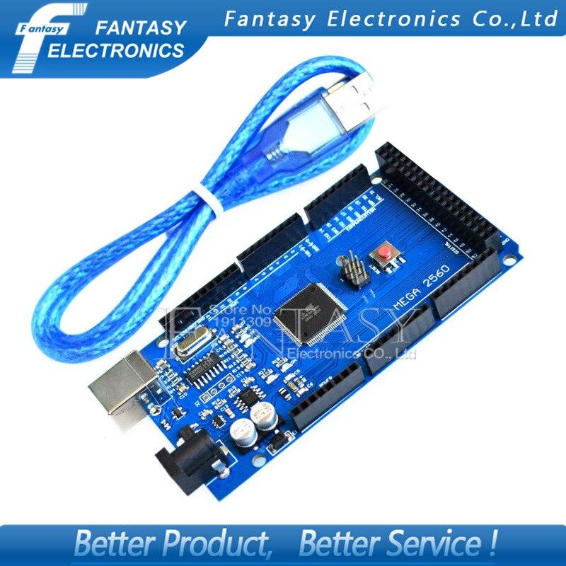 USB плата MEGA 2560 R3 ATmega2560 AVR, 1 шт., Бесплатная usb-кабель (ATMEGA2560 /CH340), funduino, новинка 2560