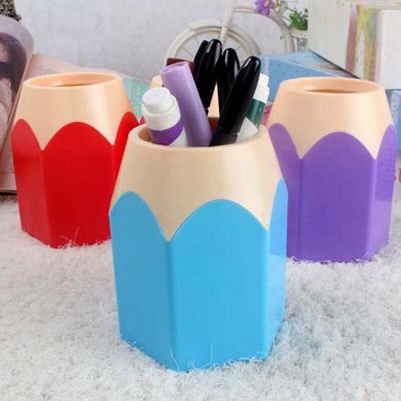 Caja de almacenamiento de lápices para brochas de maquillaje, soporte para macetas, artículos de papelería creativos, caja de almacenamiento 2018