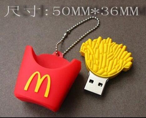 Фото - Hot Mcdonald french fries usb2.0 usb flash drive girls gift 64g usb flash drive 32g usb flash drive 16g Cartoon gift custom LOGO usb flash drive