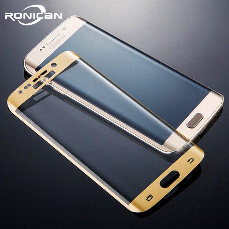 Защитное стекло RONICAN S6 edge, полностью изогнутое 3D закаленное стекло, Защитная пленка для Samsung Galaxy S6 Edge plus