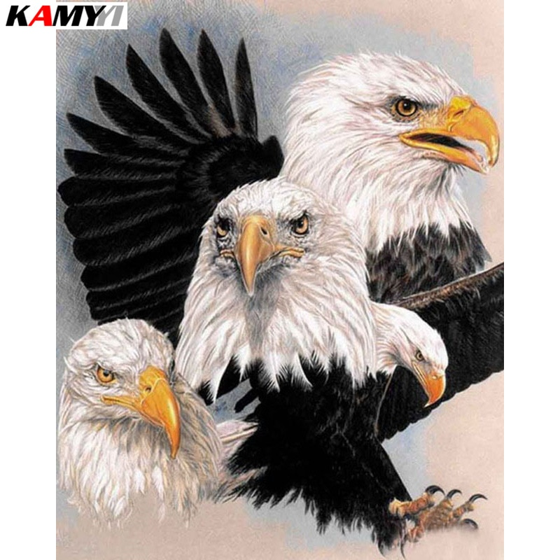 Full Square Round Diamond 5D DIY Diamond Painting eagle Embroidery Cross Stitch Rhinestone Mosaic Painting Decor Gift