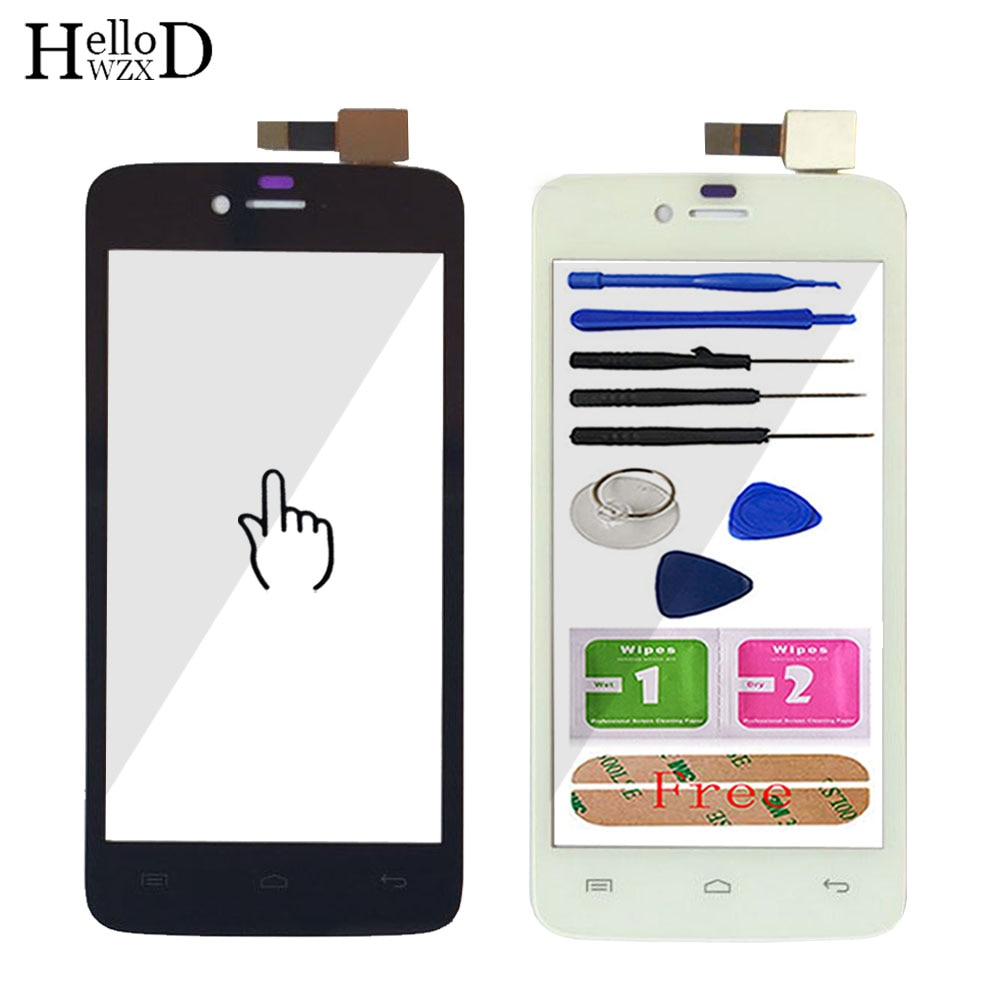 Pantalla táctil móvil de 4,5 pulgadas para Wiko Birdy pantalla táctil Panel digitalizador pantalla táctil cristal frontal Sensor herramientas adhesivas
