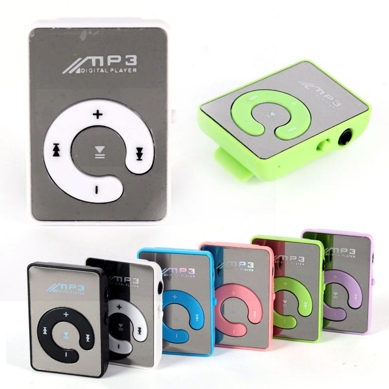 Espejo caliente Clip USB Digital Mp3 reproductor de música soporta hasta 8GB SD TF tarjeta USB