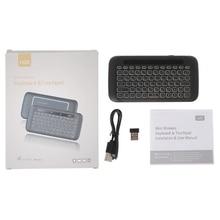 H20 ratón teclado inalámbrico LED retroiluminada Touchpad de 2400-2483 MHZ 16 canales para Android TV Box PC Windows