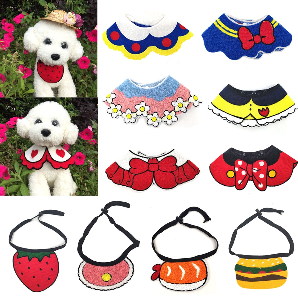 30x-wholesale-cute-pet-puppy-dog-cat-bibs-adjustable-scarf-dog-accessories-korean-style-saliva-towel-for-cats-dog-pet-supplies