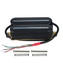 FLEOR Dual Rail Humbucker Pick-Up Chitarra Elettrica Pickup Nero Ad Alta Potenza Magnete di Ceramica 57mm Parte di Chitarra Accessori