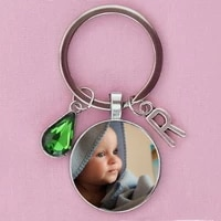 personalized handmade photo letter keychain child mom dad a family photo of a gift crystal keychain birthday name key chain