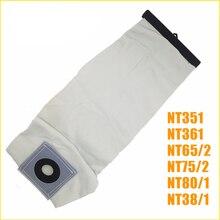 TOP qualité lavable aspirateur pièces pour KARCHER aspirateur tissu poussière filtre sacs NT351 NT361 NT65/2 NT75/2 NT80/1
