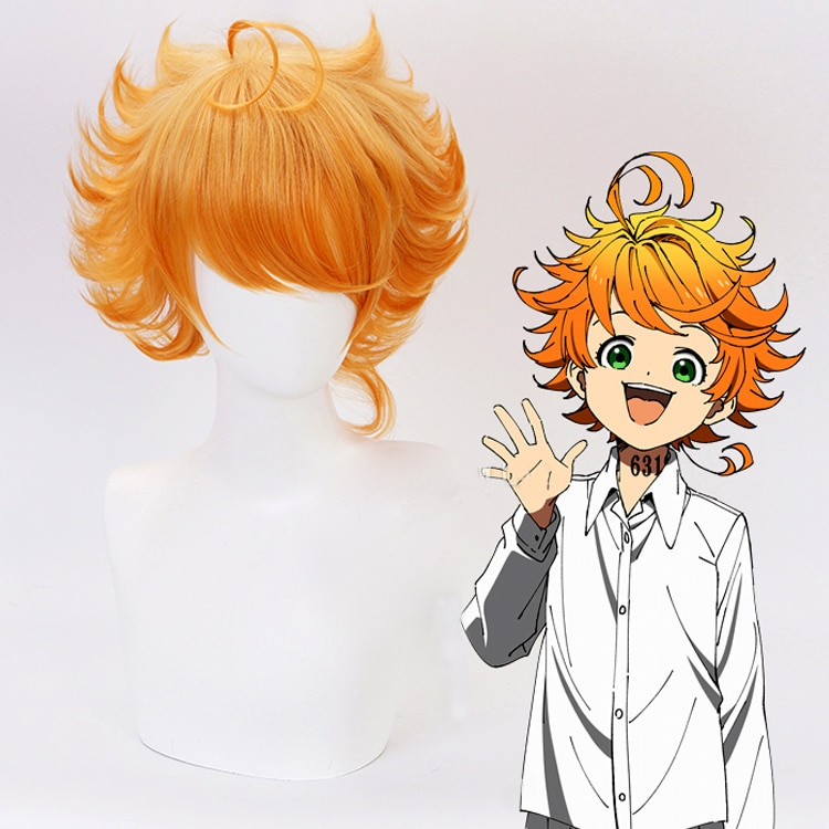 Emma Cosplay Wig Anime Yakusoku no Neverland The Promised Neverland 63194 Orange Heat Resistant Synt
