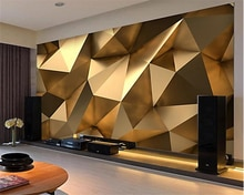 Пользовательские модные обои на заказ, золотые минималистичные геометрические обои для гостиной, спальни, papel de parede papier peint tapety