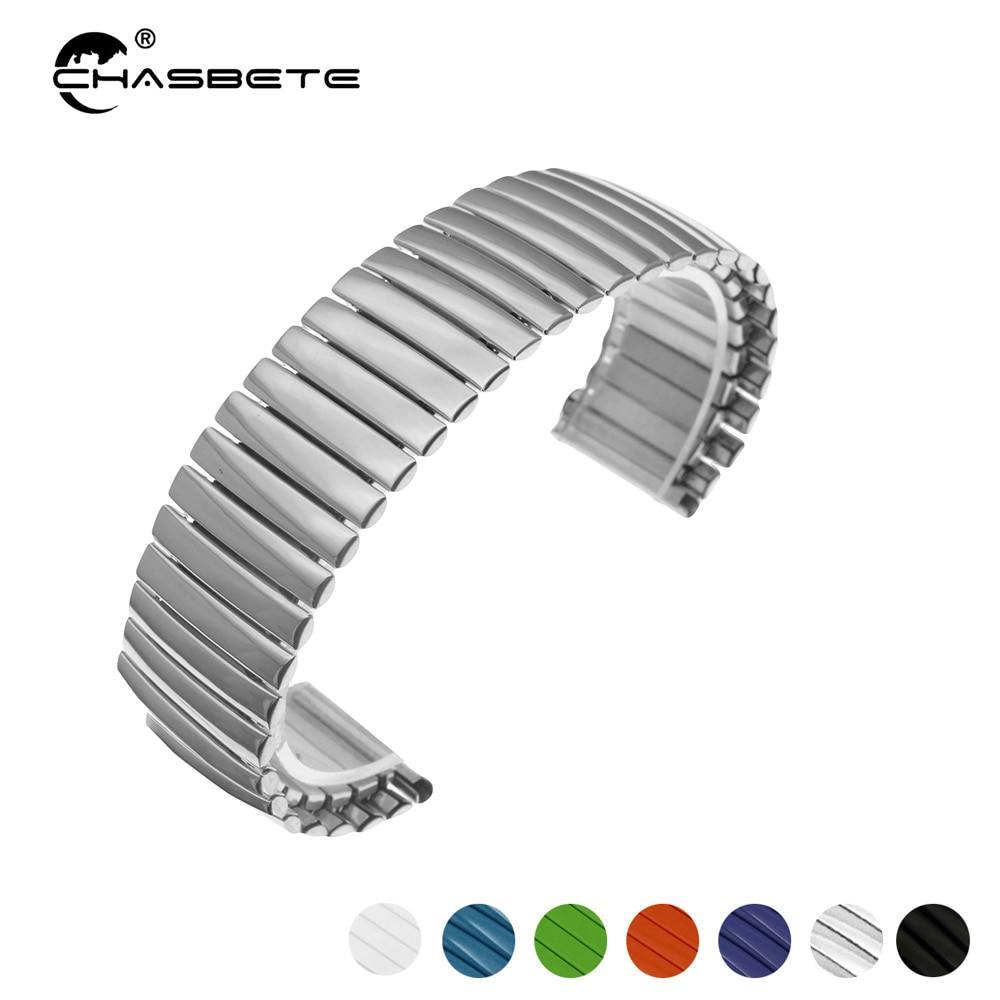 Stainless Steel Watch Band 18mm for Withings Activite / Steel / Pop Elastic Strap Loop Wrist Expansion Belt Bracelet Silver