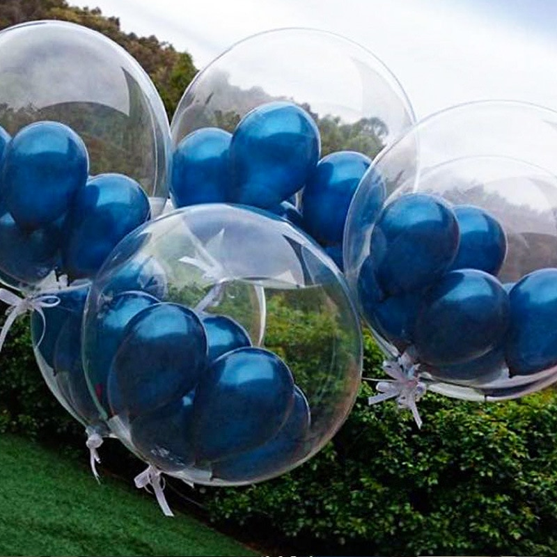 Globos de helio redondos de Pvc transparentes de 18/24 pulgadas para fiesta, globos de helio para niños, decoración para fiesta de boda