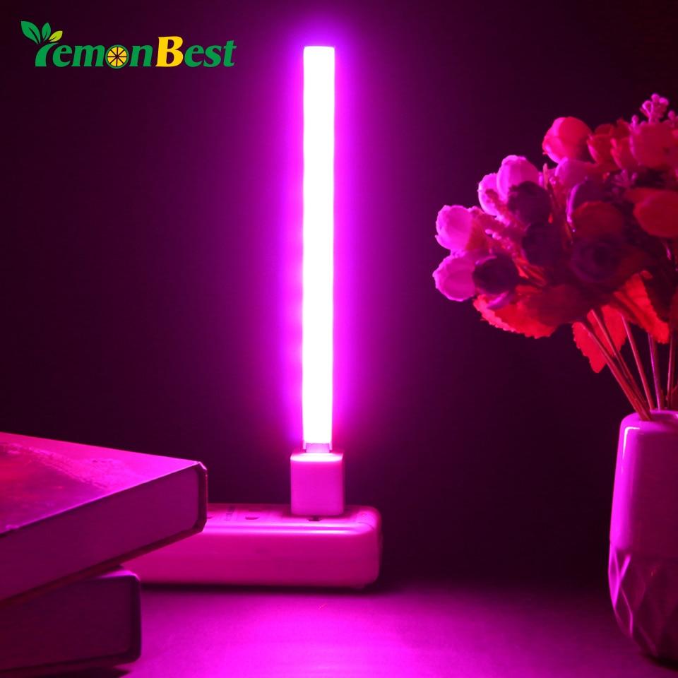 USB DC 5V 14/27 LED לגדול אור 3W 5W אדום וכחול הידרופוני צמח גידול אור בר עבור שולחני צמח פרח גדל ספקטרום מלא