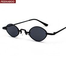 Peekaboo tiny small sunglasses women shades retro classic 2019 vintage sun glasses men gold black metal frame