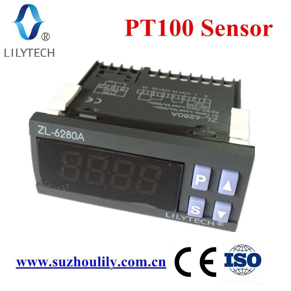 ZL-6280A, 400C, 16A, PT100, controlador de temperatura, termostato PT100, termostato digital de alta temperatura, Lilytech