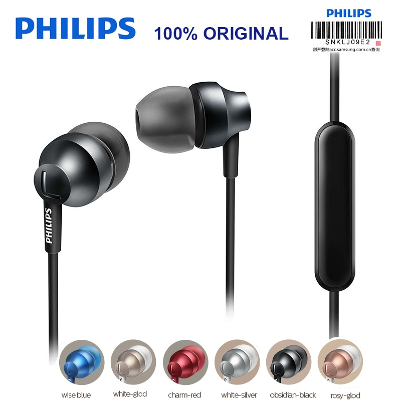 Philips SHE3855 de cable de Control de auriculares apoyo Loptap MP4 Ipad con micrófono ajuste de volumen para Huawei P10 prueba oficial