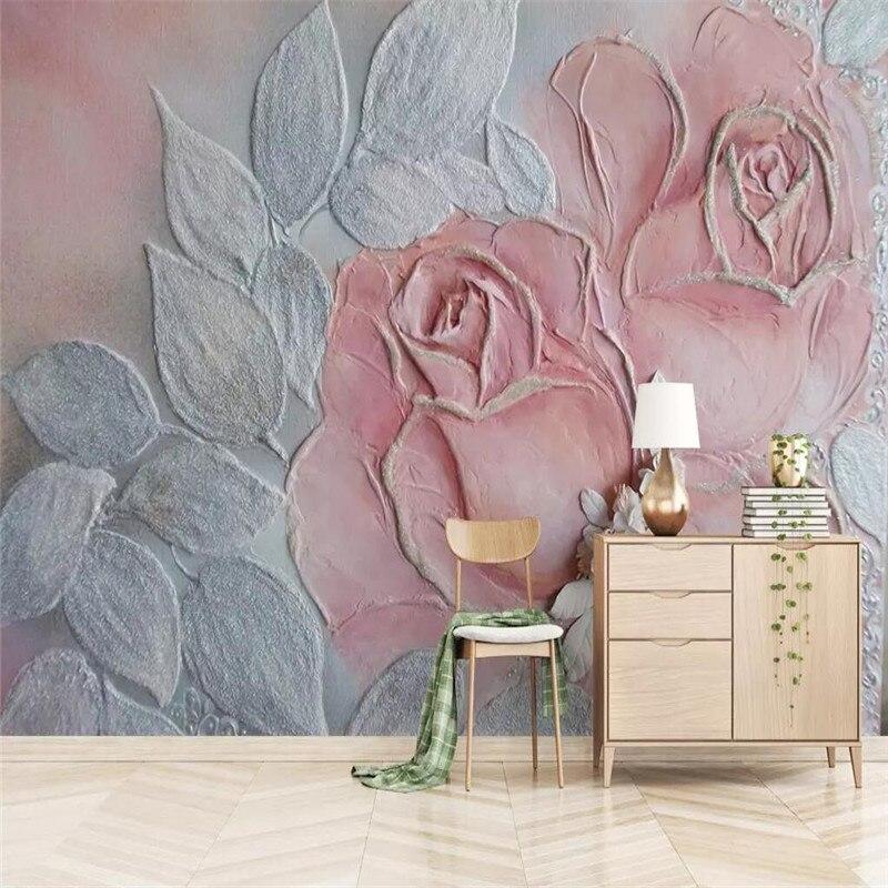 3D تنقش روز زهرة أريكة حائط الخلفية المهنية إنتاج جدارية الجملة خلفيات المشارك الصورة جدار