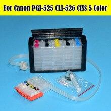 PGI-525 CLI-526 Ciss Met ARC Voor Canon PIXMA IP4850 IP4950 IX6550 MG5150 MG5250 MG5350 MX715 MX885 MX895 Printer