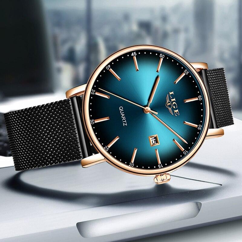 2020 Watch Women Simple Fashion LIGE Top Brand Quartz Watch Luxury Creative Waterproof Date Casual Ladies Watch Relogio Feminino enlarge