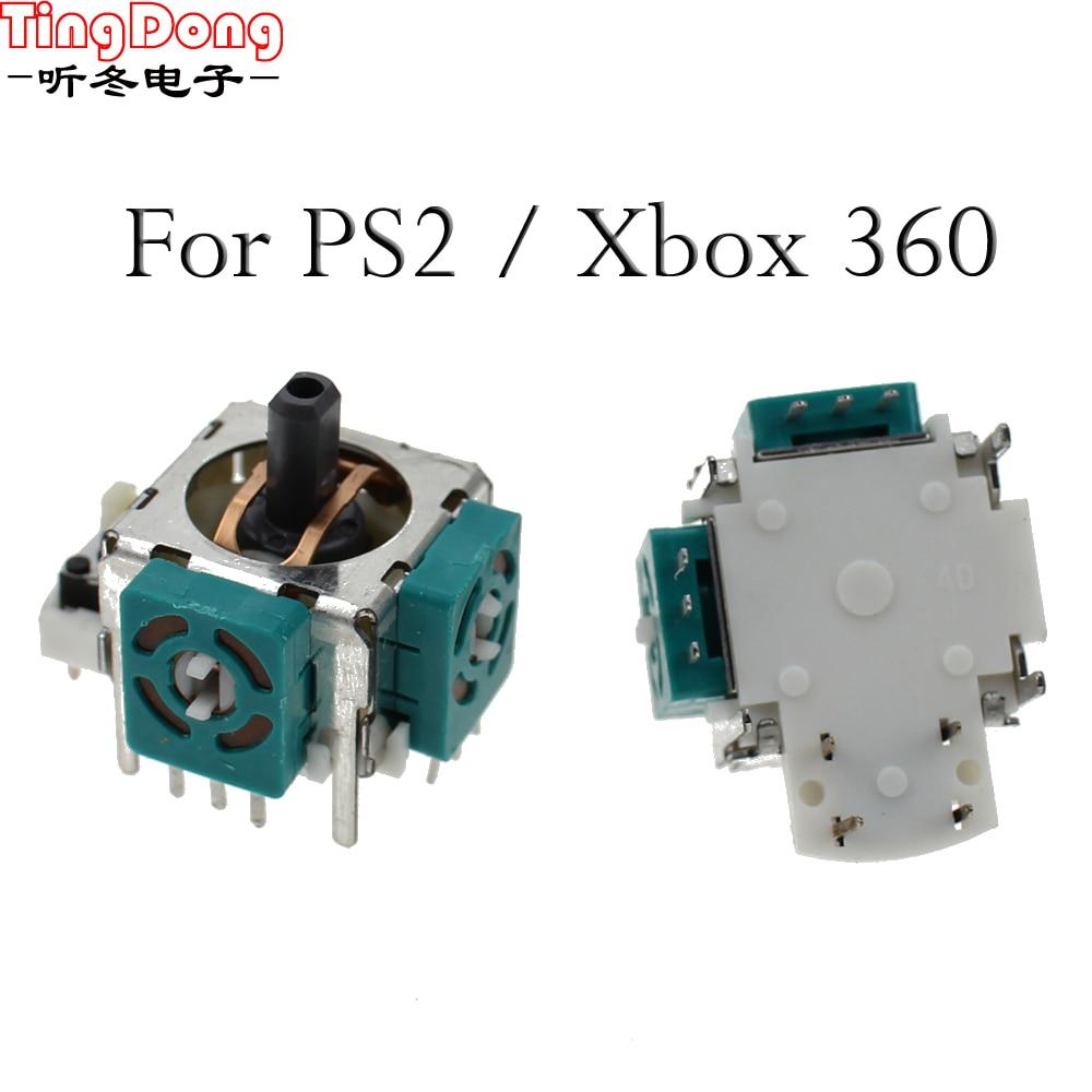 TingDong 1 шт./лот новый запасной Зеленый 3D джойстик аналоговый стик для XBOX 360 / XBOX 360 тонкий контроллер геймпад