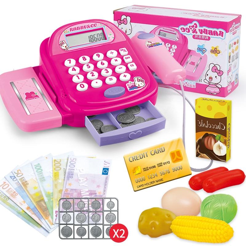 Ролевые игры игрушки супермаркет кассовый аппарат для детей касса игра продукты игрушки для девочек