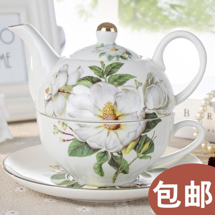 [] Oferta especial cada día olla y platillo Magnolia madre Tetera de...