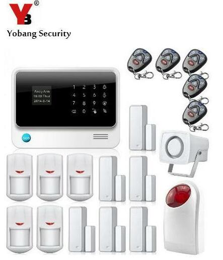 YobangSecurity IOS Android APP сенсорный экран G90B WIFI Беспроводная GSM сигнализация Система безопасности дома с Сирена двери PIR датчик сигнализации